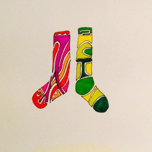 Odd Socks Abstract Drawing